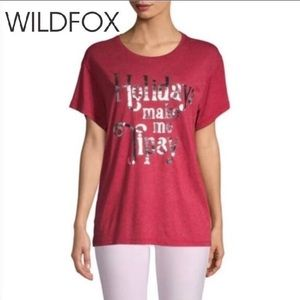 WILDFOX Holiday Graphic Tee NWT